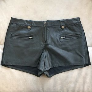 UK Style French Connection Leather Shorts